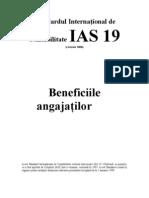 IAS Standardul International de ate IAS 19