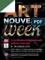 Locandine ART NOUVEAU WEEK 2019