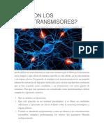 Qué Son Los Neurotransmisores