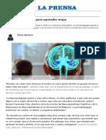 Conocer El Cerebro Para Aprender Mejor - Actualidad _ LaPrensa.com.Ar