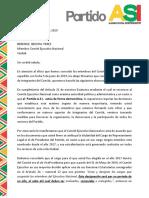 Carta Comité Ejecutivo Nal.