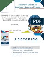 03 Manual SST Contratistas 2018