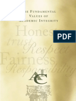 The Fundamental Values of Academic Integrity