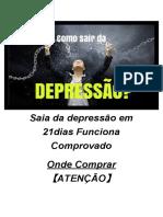 Saia da depressão em 21dias Funciona Comprovado Onde Comprar 【ATENÇÃO】