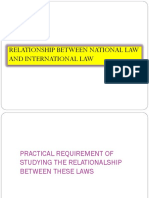 Relationship Between National Law and International Law
