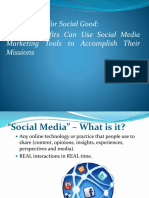 Non Profit Organisation Social Media Marketing Planning