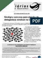 Volante Eleição Delegado(a) Gol/VRG