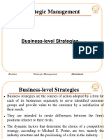 Business level strategies ppt