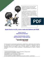 Ajuste Fiscal en La UE y Nuevo Rumbo Del Gobierno Del PSOE