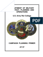 Campaign Planning US Army War College 07