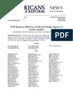 ATR Releases 2010 List for North Carolina