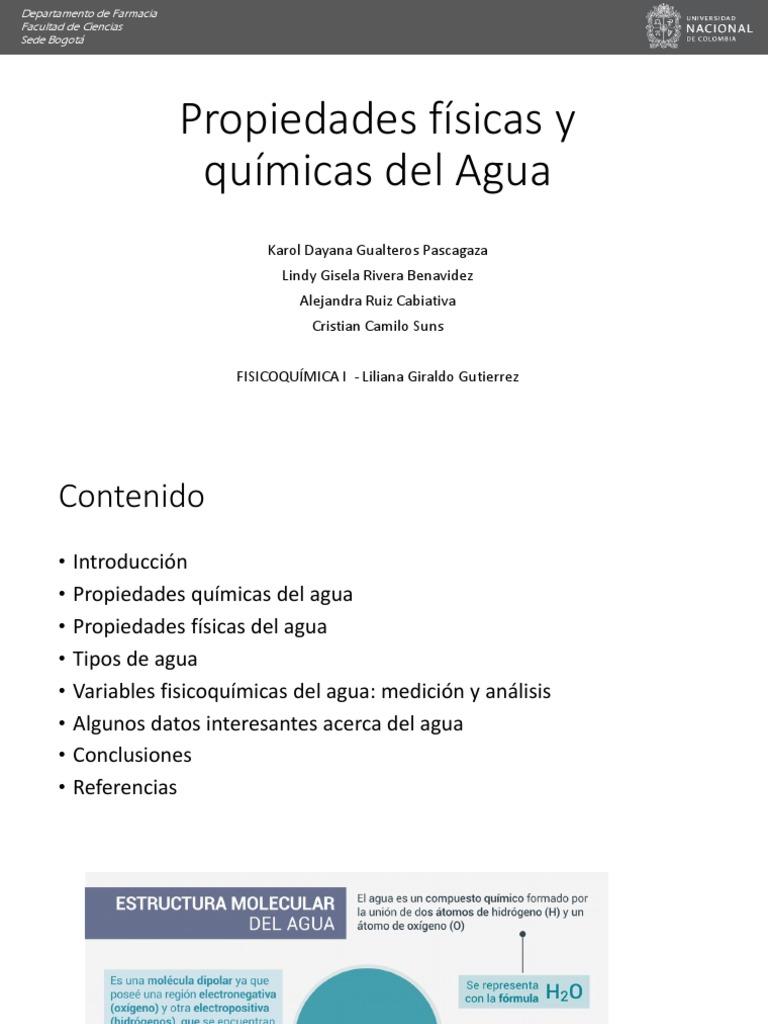 Presentación 1 Ciclo Del Agua Propiedades Del Agua