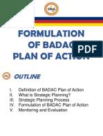 Module 2- Formulation of BADAC Plan of Action