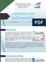 Opciones de Software Libre