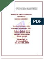 Analysis of Pakistani Industry