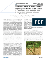 Identification and Controlling of Stem Bulging of Passion Fruit (Passiflora Edulis) in Sri Lanka