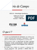 Diario-De-Campo -A Partir de FALKEMBACH- E. M. F. Diario de Campo Um Instrumento de Reflexao