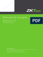 ZKAccess 3-5 Manual de Usuario