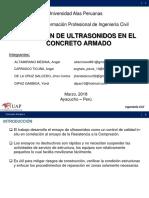 Concreto Armado i - Aplicacion de Ultrasonidos en El Concreto Armado