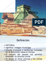 Clase 1  01-2011 CONCEPTO DE HISTORIA.pps