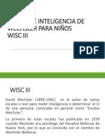 2 ESCALA DE INTELIGENCIA PARA DE WECHSLER PARA NIÑOS.ppt