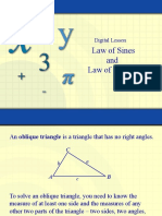 2. Law of Sines and Cosines