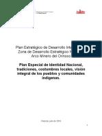 Plan Especial de Identidad Nacional, Tradiciones, Costumbres Locales, Visión Integral de Los Pueblos y Comunidades Indígenas-Cultura-último Borrador Para Enviarlo.