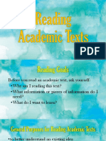 Fundamentals of Reading Academic Texts
