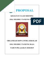 Proposal Class Meeting SMK PGRI 2018