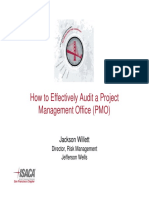 Auditing a PMO