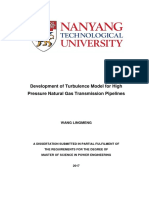 Development of Turbulence Model for High Pressure Natural Gas Transmissi...