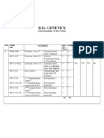 BSc Genetics Programme26!08!09