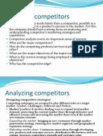 Analyzing Competitors