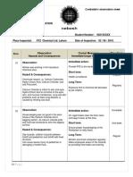 NEBOSH GC3 Observations Sheet Sample
