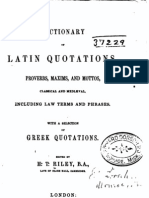Dictionary of Latin Quotations, Proverbs, Maxims, And Mottos. by H.T. Riley
