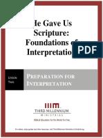 HeGaveUsScriptureFoundationsOfInterpretation.lesson2.Manuscript.english