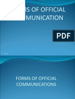 Forms of Communications