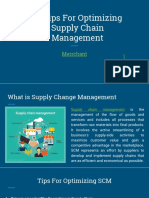 10 Tips for Optimizing Supply Chain Management