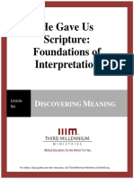 HeGaveUsScriptureFoundationsOfInterpretation.lesson6.Manuscript.english