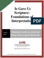 HeGaveUsScriptureFoundationsOfInterpretation.lesson8.Manuscript.english