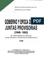 100 - Pensamiento oficial Juntas Provisorias 1948-1952 - Venezuela