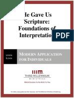 HeGaveUsScriptureFoundationsOfInterpretation.lesson11.Manuscript.english