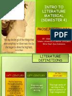 Literature Definitions