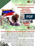 Encuentro Estudiantil Educación Media General y Técnica 2019