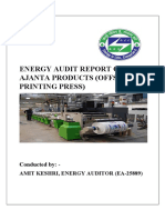 Energy Audit Report of Ajanta Products