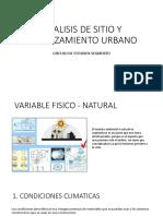 Analisis Variables Fisico Naturales
