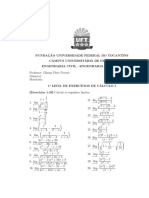 1 Lista de Exerc Cios de c Lculo i Civil-el Trica-2017.1