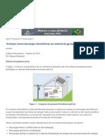 Proteção Contra Descargas Atmosféricas Em Sistema de Geração Fotovoltaico - O Setor Elétrico
