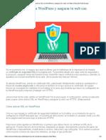 Cómo activar SSL en WordPress y asegurar tu web con https