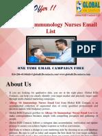Allergy Or Immunology Nurses Email List.ppt